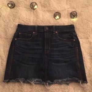American Eagle mini jean skirt size 6